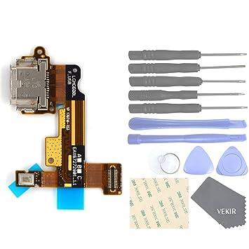 VEKIR Repuestos de teléfonos celulares para LG G6 H870 H871 H872 H873 H870K VS998 LS993 US997 Cable de Carga del Puerto del Cargador USB+Microphone