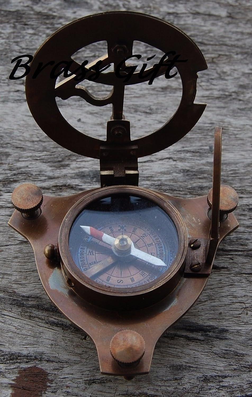 Nautical Maritime Westロンドンアンティーク真鍮日時計コンパス航海の装飾 B0727ZZ51X