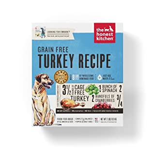 The Honest Kitchen Human Grade Dehydrated Grain Free Turkey Dog Food 2 lb - Embark