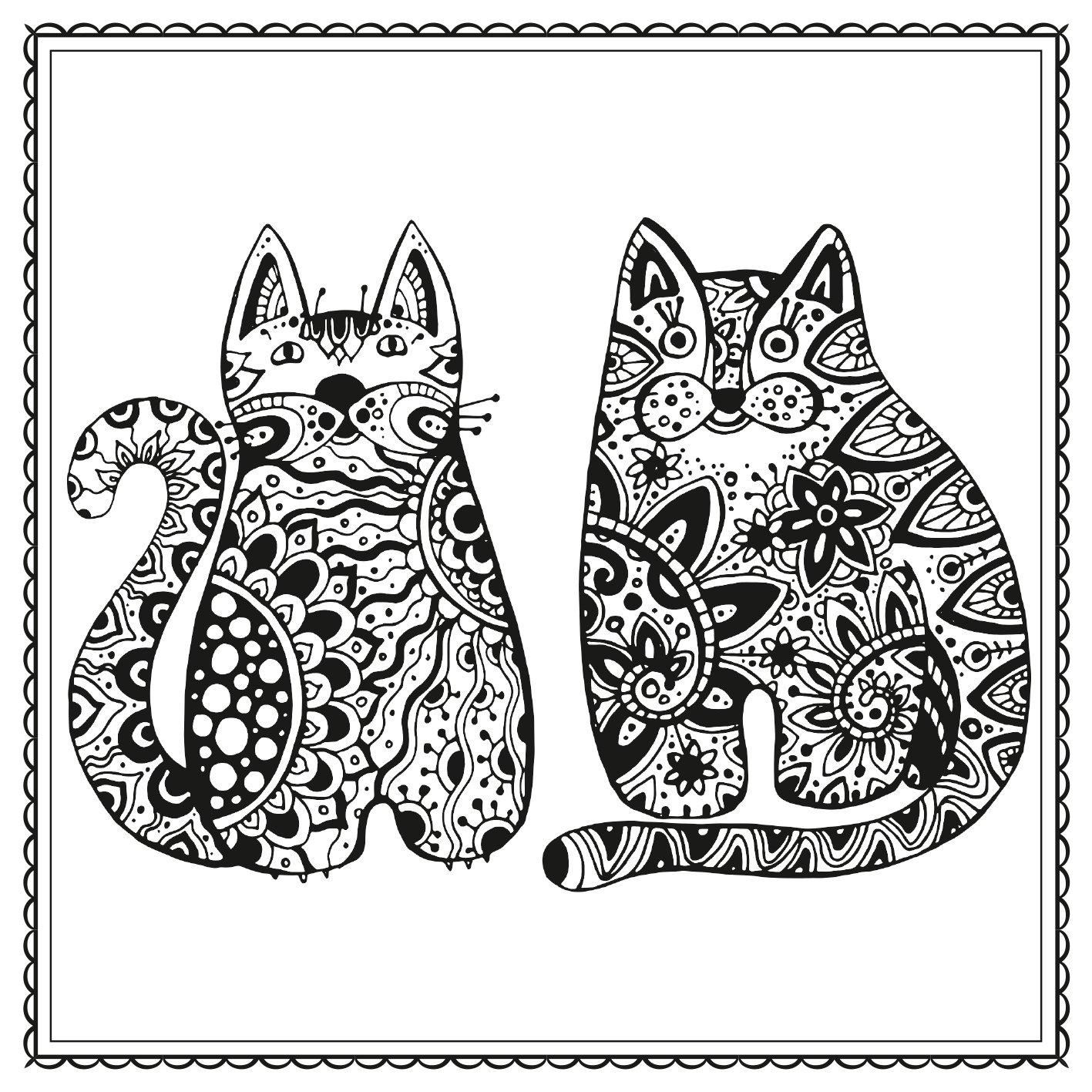 Katzenglück: Zauberhafte Katzenbilder zum Ausmalen Malprodukte für ...