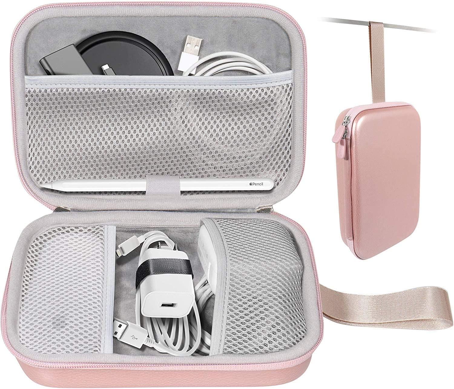 MacBook Accessories All in one Case by CaseSack, compartments for MagSafe 2 Power Adapter, MagSafe Charger , Magic Mouse 2/1, Apple Pen 2/1, iPhone Charger, Lightning Hub, USB C Hub, Type C Hub