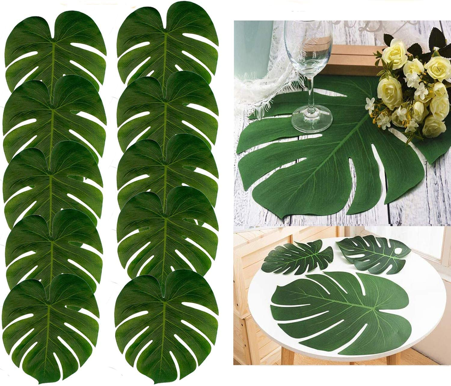 Amazon Com 48pcs Large Artificial Tropical Palm Leaves 13 8 By 11 4 Inch Hawaiian Luau Party Tiki Aloha Jungle Beach Birthday Decorations Kitchen Dining Professionally lit and photographed, this collection has dozens of different leaves including several tropical and palm varieties. 48pcs large artificial tropical palm leaves 13 8 by 11 4 inch hawaiian luau party tiki aloha jungle beach birthday decorations