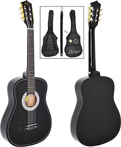 Guitarra Acústica Guitarra Clásica Guitarra de concierto en negro ...