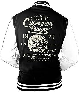 Uomo Giacca College Champion Super Bowl Football Americano Old School