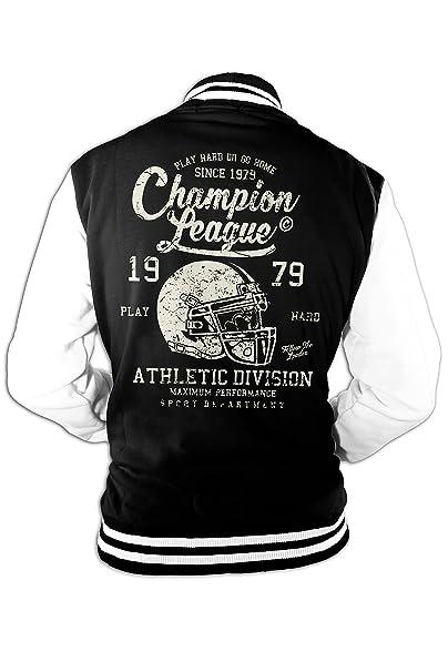 Hombre Chaqueta College Champion Super Bowl Fútbol Americano Old School: Amazon.es: Ropa y accesorios