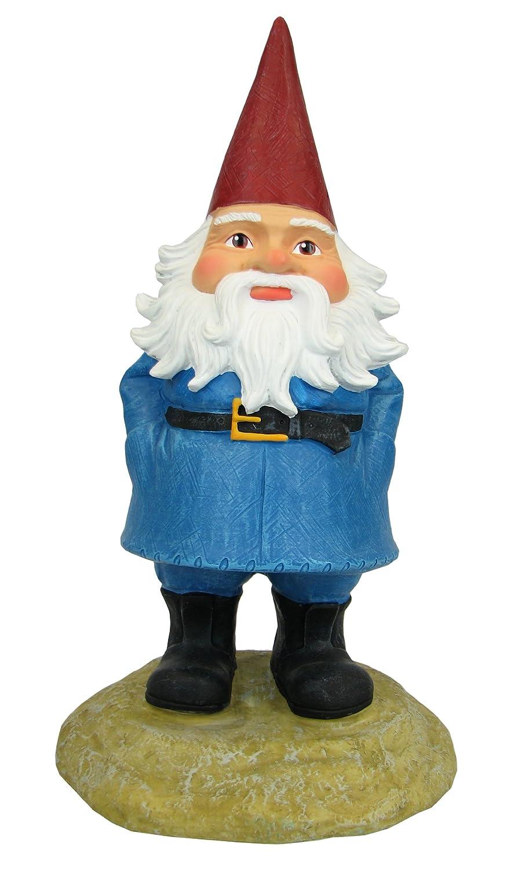 amazon com exhart 8 inch travelocity gnome outdoor statues