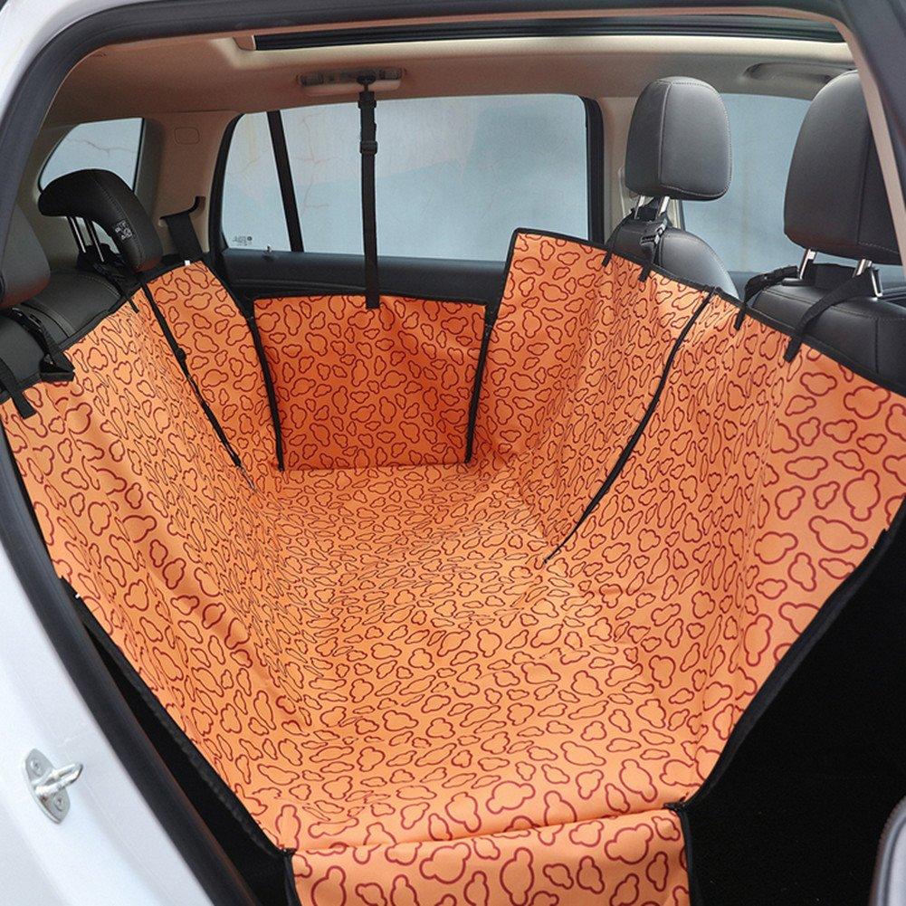 orange Dog seat Cover, Waterproof pet seat Cushion seat car Boot Predector, pet Hammock Rear seat Cover
