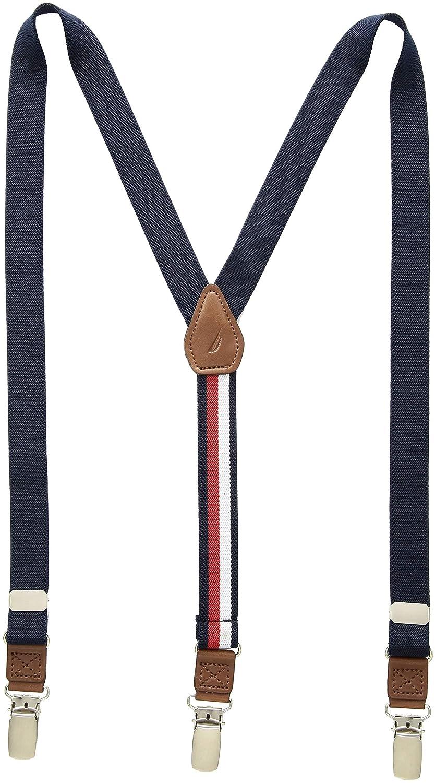 Tommy Hilfiger Boys' Big Adjustable Clip Suspender, Black One Size 22TL51X002