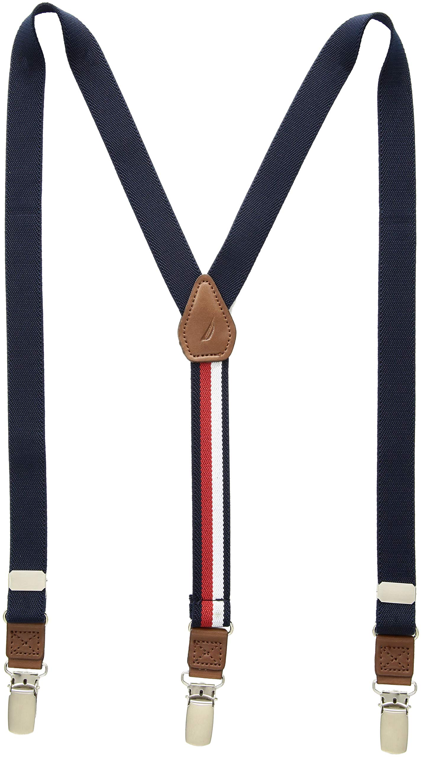Tommy Hilfiger Boys' Big Adjustable Clip Suspender, navy, One Size