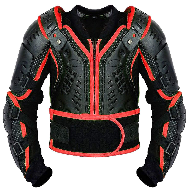PROFIRST Kinder-K/örper-R/üstung Motocross Motorrad Motorrad Schutz Jacke Motorrad K/örper Schutz CER genehmigt Bergradfahren Rot//Red - S - Bis 6 Jahre alt