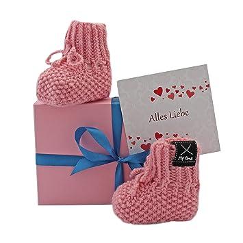 Geschenk Baby Baby Geschenkset Babyschuhe Rosa Gratis Karte