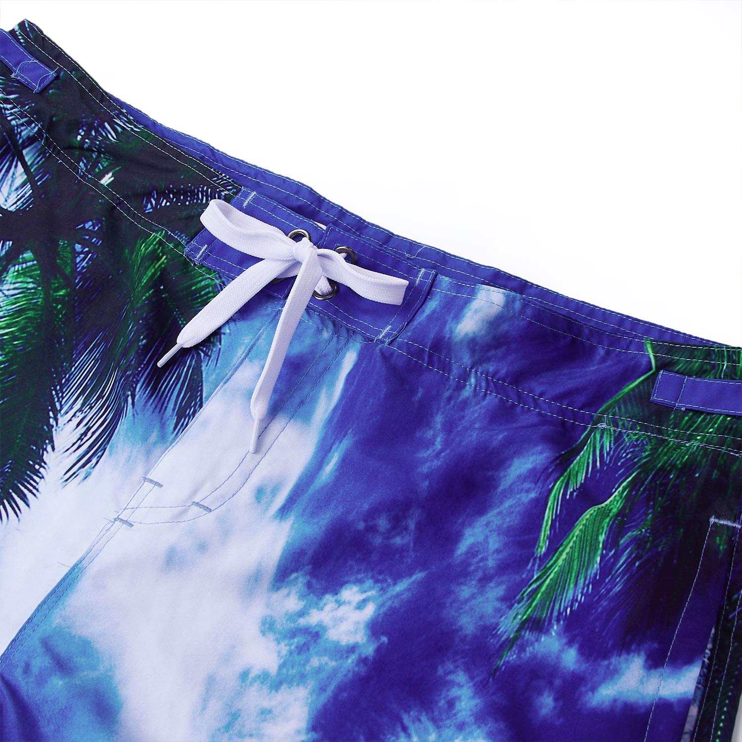 90s Men's Funny Board Shorts 3D Graphic Athletic Pants Blue Sky and White Clouds Printing Swimming Trunks 22