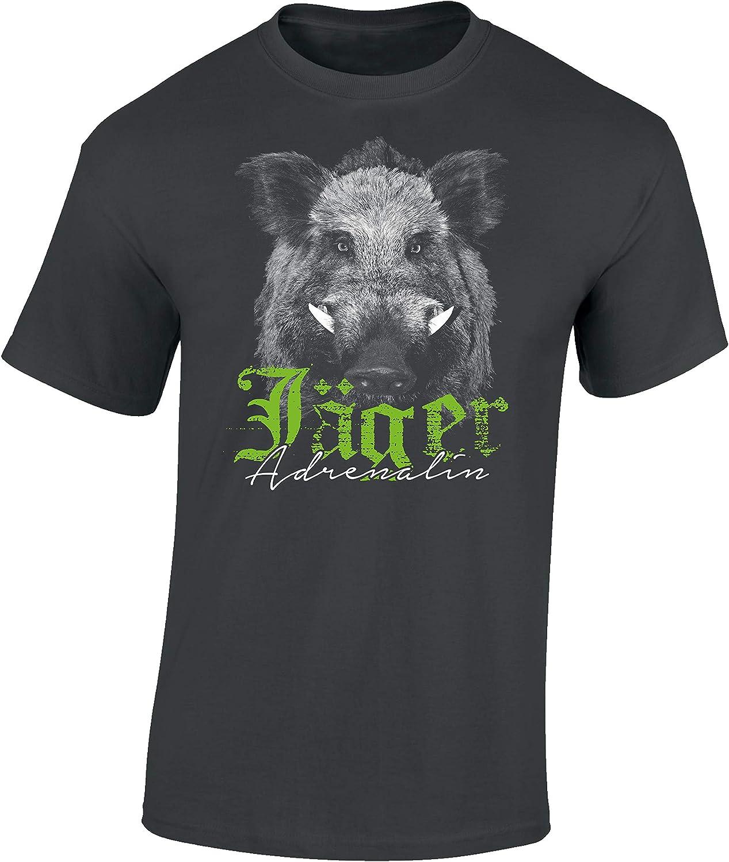 Camiseta: El Jabalí - Adrenalina para el Cazador/T-Shirt en aleman/Caza/Verraco/Trabajo/Bosque/Animal/Salvajina/Alemania/Jager/Hunter/Regalo para Cazador: Amazon.es: Ropa y accesorios