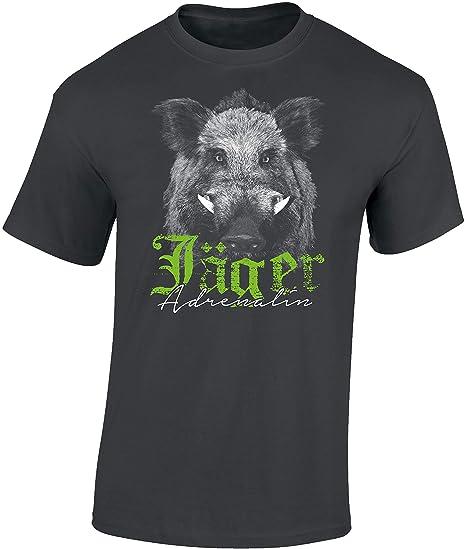 Camiseta: El Jabalí - Adrenalina para el Cazador/T-Shirt en aleman/