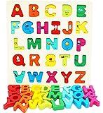 Toys of Wood Oxford robusto asse di legno puzzle di alfabeto maiuscolo -Early apprendimento giocattoli