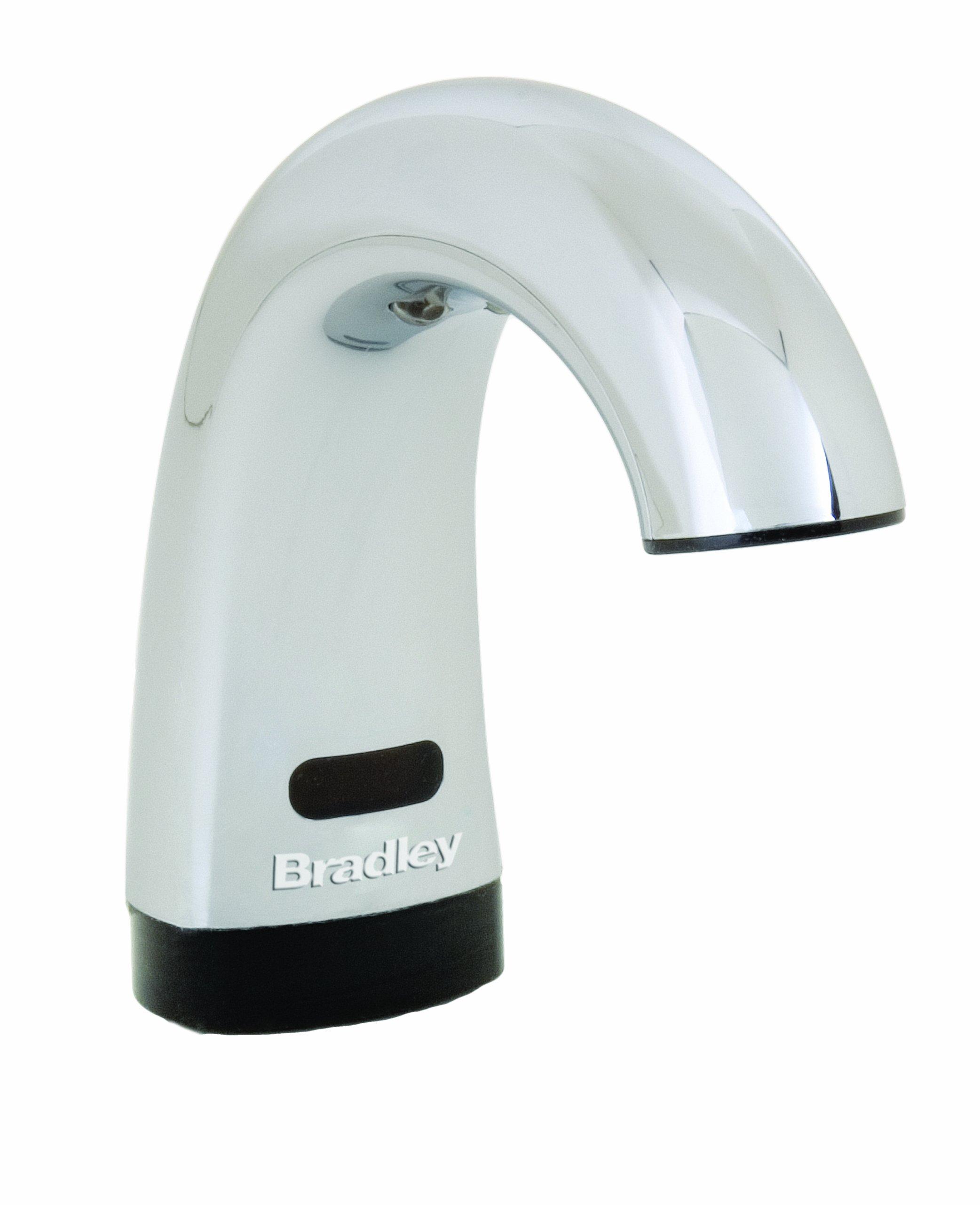 Bradley 6315-000000 Lavatory Mounted Sensored Soap Dispenser, 27 oz. Capacity, 5-1/2'' Spout by Bradley