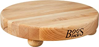 product image for John Boos Block B12R Round Maple Wood Edge Grain Cutting Board with Feet, 12 Inches Round, 1.5 Inches Thick