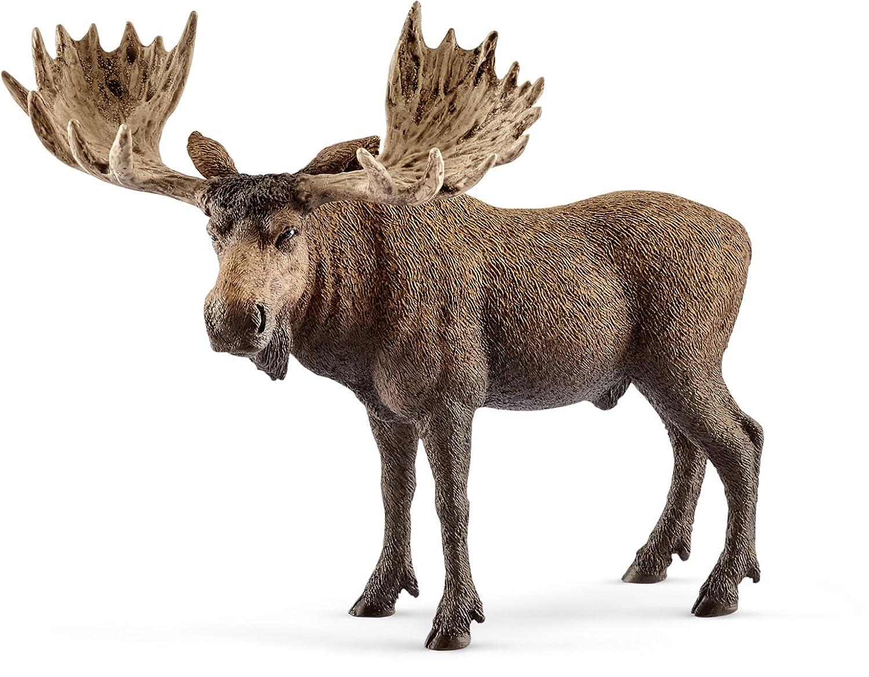 Amazoncom Schleich Moose Bull Figure Schleich Toys Games