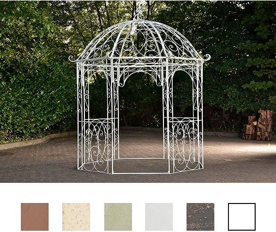 Templete de metal para jardín de CLP, modelo Leila, redondo, 229 cm de diámetro, altura de 313 cm, de hierro, diseño sencillo y elegante, Antik Weiß: Amazon.es: Jardín