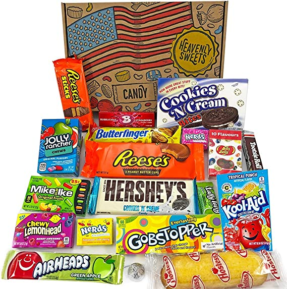 American Candy Box Hamper American Sweets And Chocolate Bar Gift Box Selection Assortment Includes Reeses Hershey Jelly Belly Nerds 19 Items