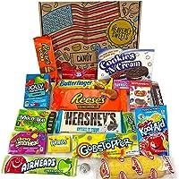 Cesta con American Candy | Caja de caramelos