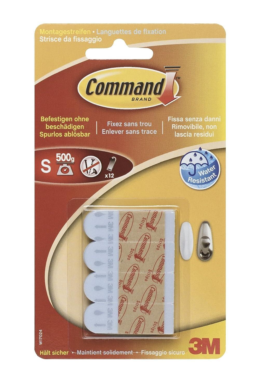 Prodotti Command 57640 W17024 Striscia di Ricambio, Resistente all'Acqua, S, Bianco Resistente all' Acqua 3M