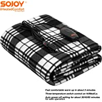 59 x 39 Odorless Soft Travel Heating Blanket for Universal Cars Trucks SUVs RVs ISKETCH 12V Electric Heated Car Blanket