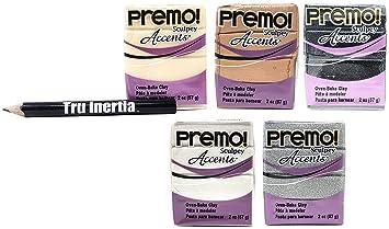 Sculpey Premo Accents Horno de arcilla 2 oz Variedad Pack de 5 ...