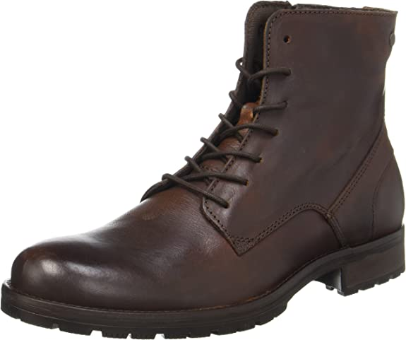 Jack & Jones Jfworca Leather Brown Stone, Botas Clasicas para Hombre
