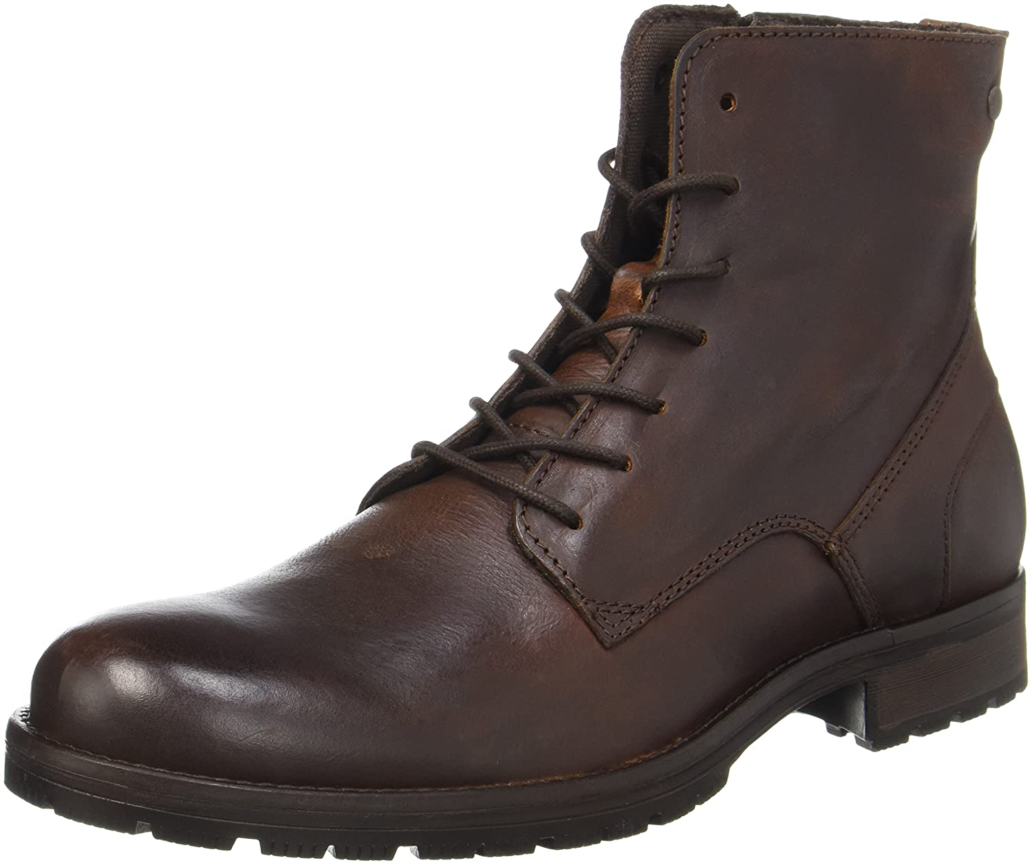 TALLA 40 EU. Jack & Jones Jfworca Leather Brown Stone, Botas Clasicas para Hombre