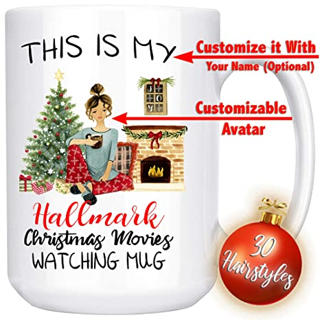 Personalized Christmas Gifts.This Is My Hallmark Christmas Movies Watching Mug Personalized Christmas Gift Funny Xmas Gift For Best Friend Sister Mom Girlfriend Santa Claus