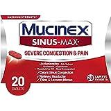 Mucinex Sinus-Max Severe Congestion & Pain Relief Maximum Strength Caplets- Sinus Decongestant, Headache Relief…