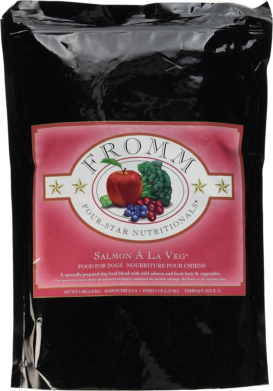 Fromm Four-Star Salmon A La Veg Dry Dog Food, 5-Pound Bag