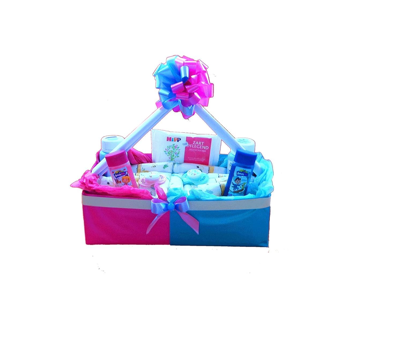 Windeltorte Zwillinge | Windelkörbchen | Baby Geschenkset zur Geburt & Taufe
