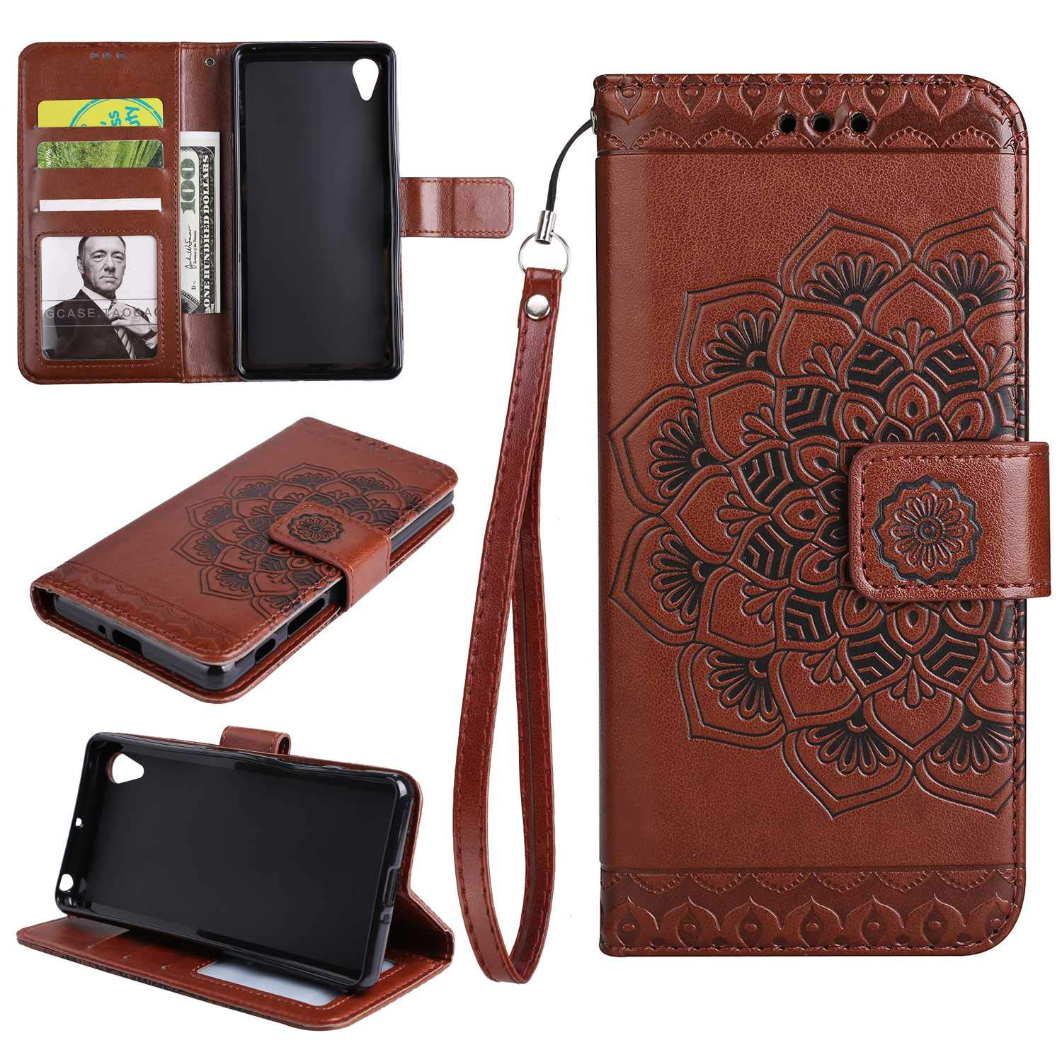 Sony Xperia XA Case The Grafu Flip Leather Wallet Cover Card Slot Holder with Kickstand and Metal Magnetic Closure for Sony Xperia XA Purple