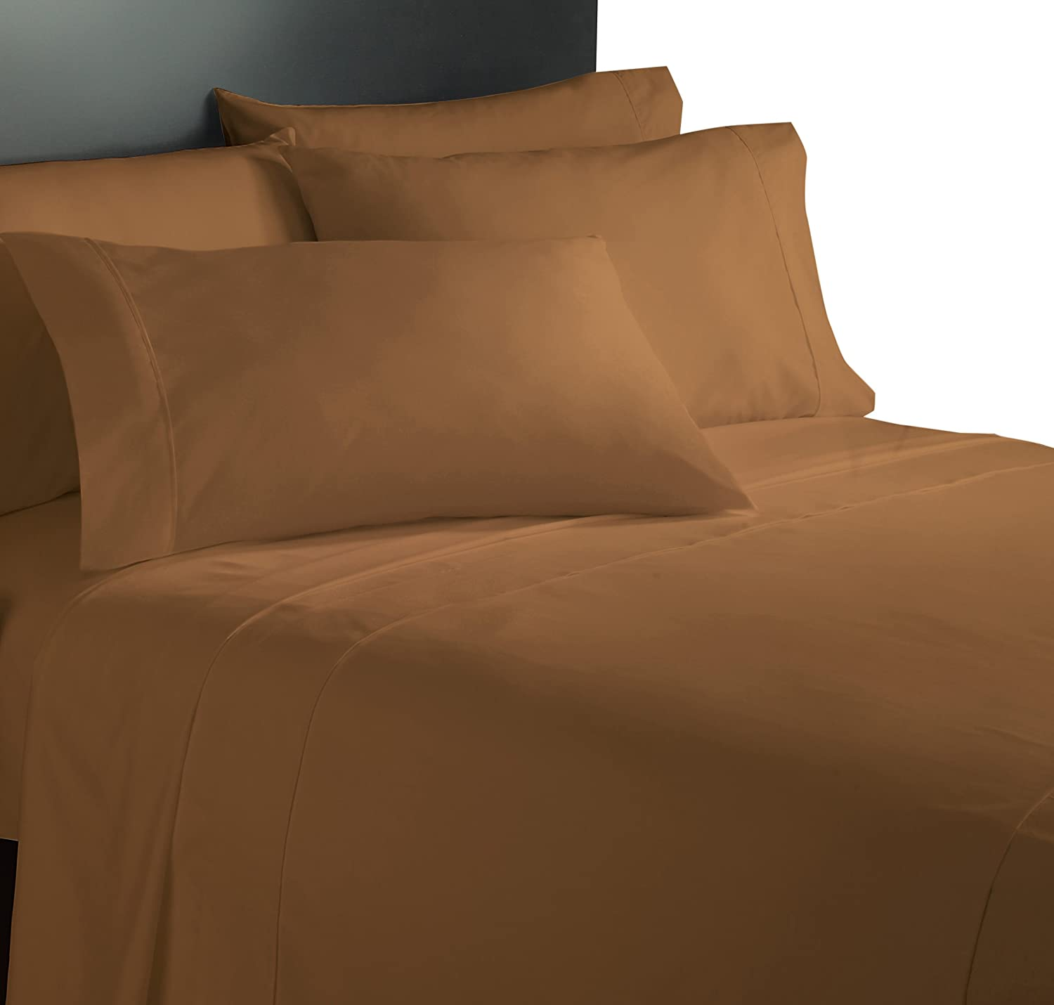 Piece Twin with 1 Additional Pillowcase Home Collection Micro Caress Luxurious Sheet Set Lt Brown Color Cathay Home Inc 108219-T-LTB 90GSM 3
