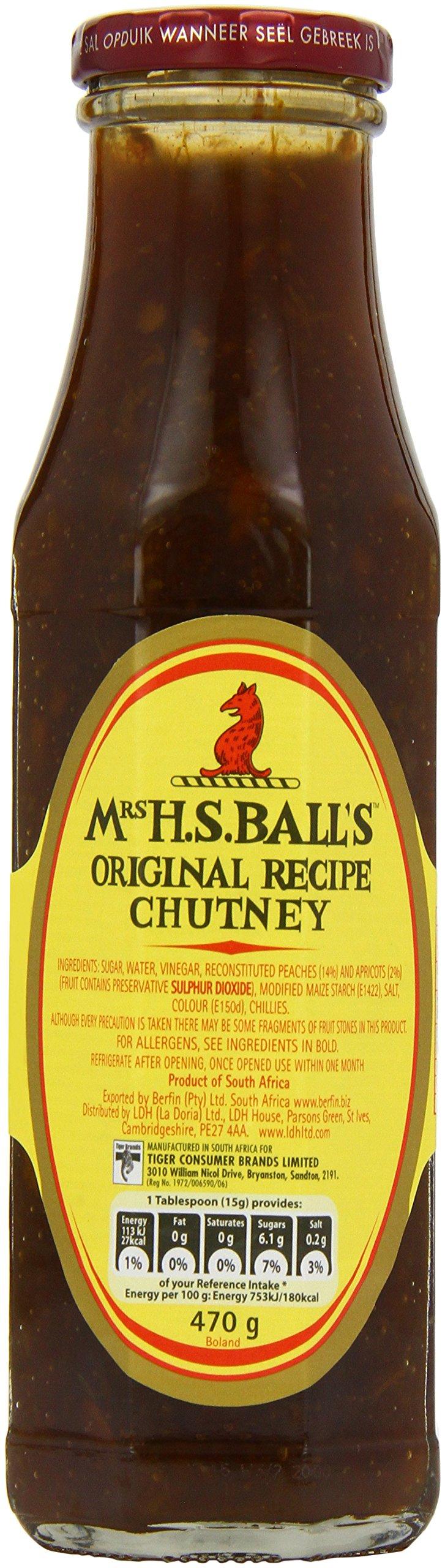 Mrs H.S. Ball's Original Recipe Chutney, 470g