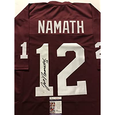 pretty nice adb67 143f6 Autographed/Signed Joe Namath Alabama Crimson Tide Maroon ...