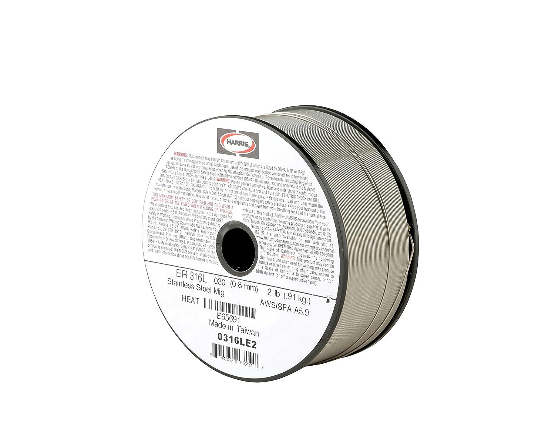 Harris 0316LE2 316L Welding Wire, Stainless Steel Spool, 0.030\