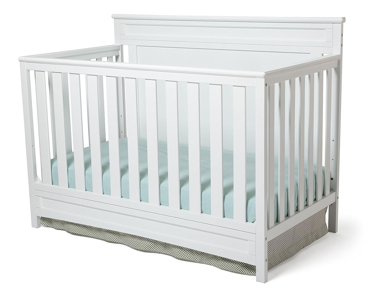 Delta Children Princeton 4-in-1 Convertible Baby Crib, White