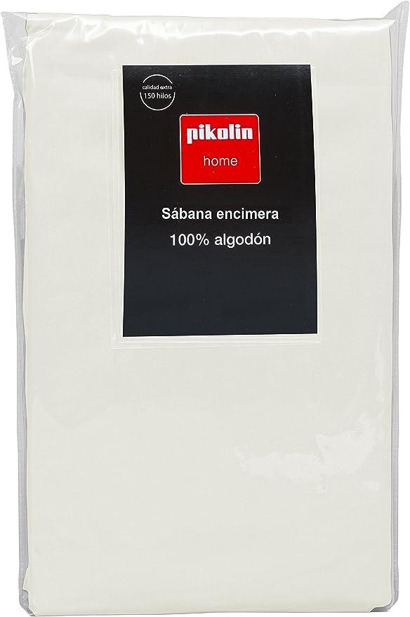 Pikolin Home - Sábana encimera, 100% algodón, 220x270cm, cama 135/140, color natural (Todas las medidas): Amazon.es: Hogar