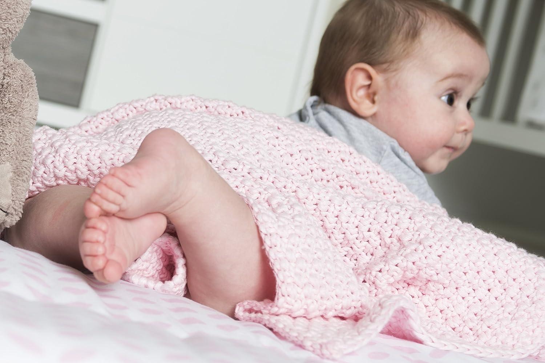 Schardt 15 100 209 Babystrickdecke Sunny beige 75 x 100 cm