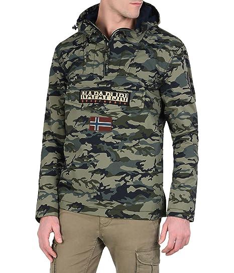 new style d7312 f5dfd Napapijri Men's Blouse Jacket Long Sleeve Jacket Green Verde ...