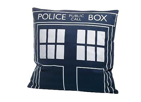 Amazon.com: Doctor Who Tardis – Cojín cuadrado (: Home & Kitchen
