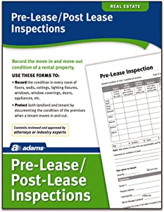 Adams Pre-Lease and Post-Lease Inspections, Forms and Instructions (LF603)