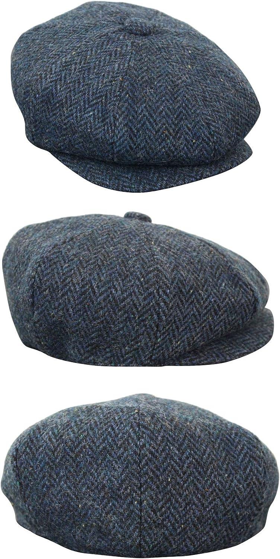 IK B/éret homme casquette plate style Peaky Blinder grand p/ère vintage classique en tweed /à carreaux