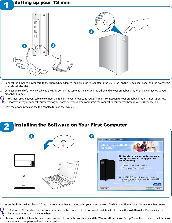 Asus Ts Mini Soho Server (500Gb Storage): Amazon co uk: Computers