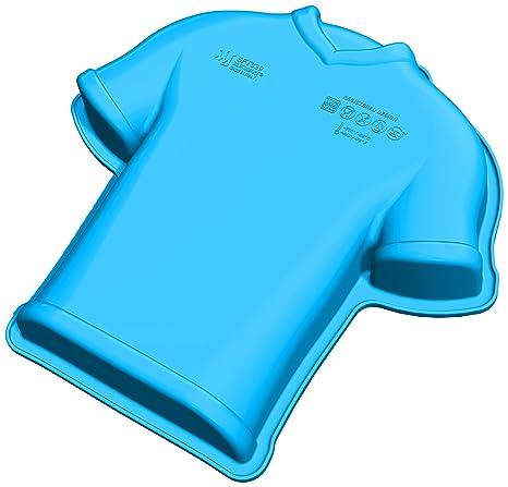 Unbekannt SFT339 Molde de Silicona con Forma de Camiseta de fútbol, Color Azul