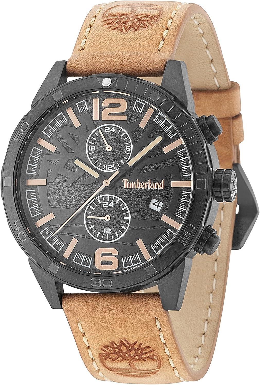 Timberland Reloj Multiesfera para Hombre de Cuarzo con Correa en Cuero 15256JSB/02