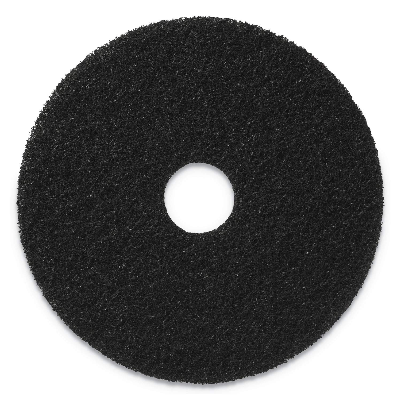 CleanFreak, 13 inch Commercial Floor Stripping Pads, Black (5 per case), 400113